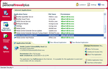 McAfee Personal Firewall Plus